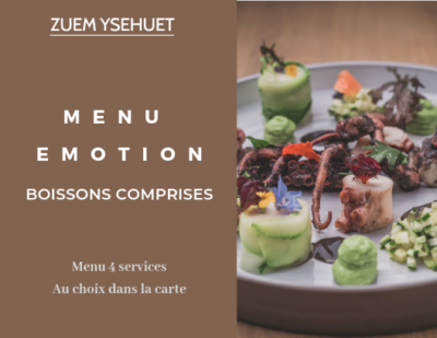 Bon cadeau Menu emotion