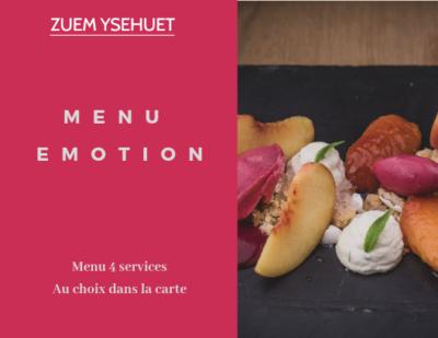 Bon Cadeau menu émotion