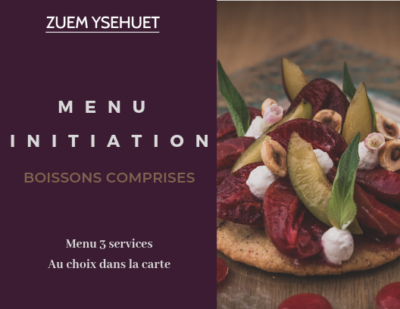 Bon cadeau Menu initiation